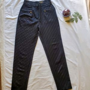 Vintage Fendi Zucca Pants - Small